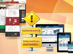 Nemokama svetainė ir internetinės svetainės reklama